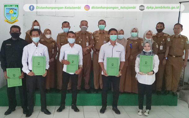 Penandatanganan Kontrak Kerja TKK dilingkup DPKP Kota Jambi Tahun 2021